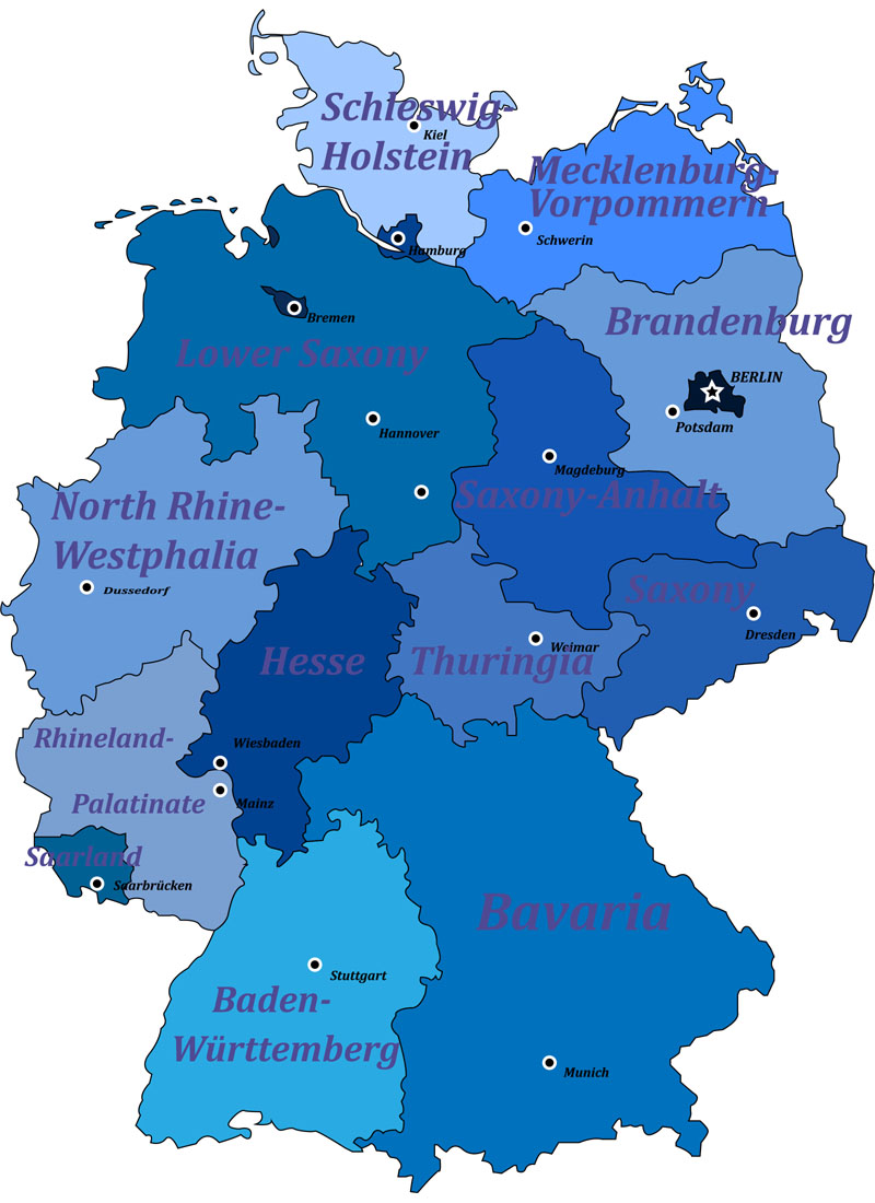 Niemcy Polozenie Mapa Flaga Stolica Landy Turystyka