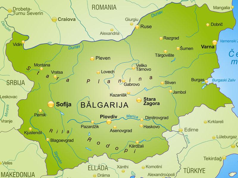 Bulgaria Mapa Flaga Stolica Waluta Turystyka