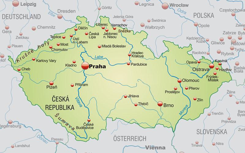 Czechy Polozenie Mapa Flaga Stolica Waluta Turystyka
