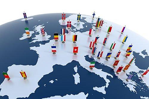 Europa Granice Mapa Geografia Państwa Stolice