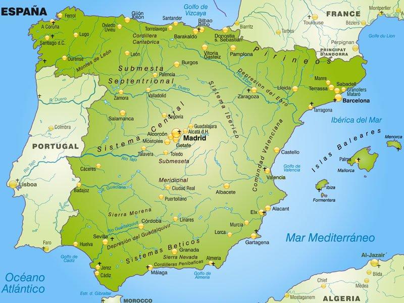 Hiszpania Polozenie Mapa Flaga Stolica Turystyka
