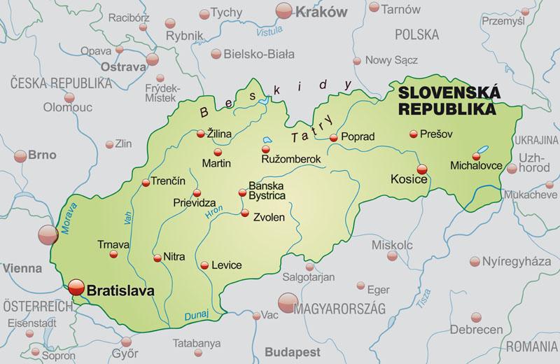 Slowacja Polozenie Mapa Flaga Stolica Waluta Turystyka