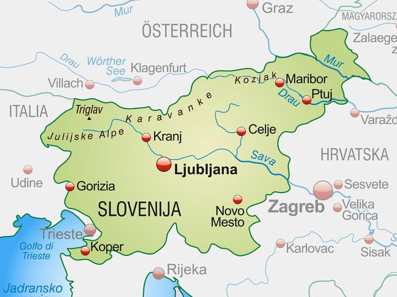 Slowenia Polozenie Mapa Flaga Stolica Waluta Turystyka