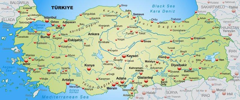Turcja Polozenie Mapa Flaga Stolica Religia