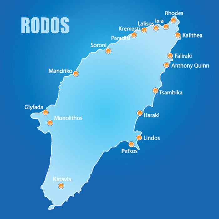 Wyspa Rodos Mapa Atrakcje Zabytki Miasto Rodos